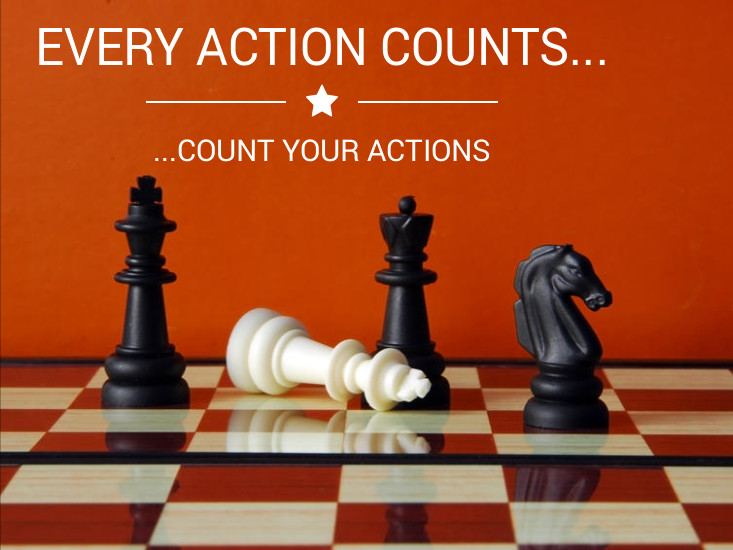 Every action counts, count your actions